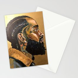nipsey hussle remembered Stationery Cards