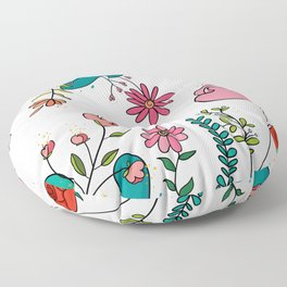 Let Your DREAMS blossom Floor Pillow