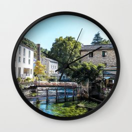 Clear fresh and sweet waters in Fontaine-de-Vaucluse Wall Clock