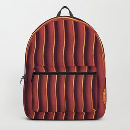 Red Wavy Stripe Backpack