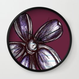 """""""Bound up by Bandages"""" Flowerkid Wall Clock"""