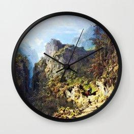 Mountain Landscape With Lovers - Carl Spitzweg Wall Clock