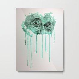 Albert - GREEN Metal Print