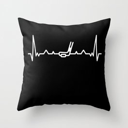 Funny Ice Hockey Heart beat Puck Gift Throw Pillow