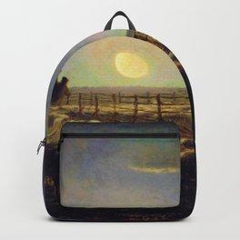 Jean-Francois Millet - The Sheepfold, Moonlight - Digital Remastered Edition Backpack