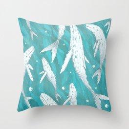 Dimond Whales Throw Pillow