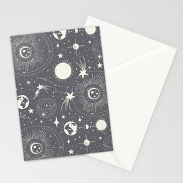 Solar System - Moon Dust Stationery Cards