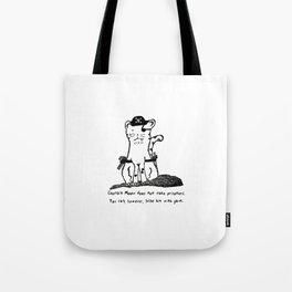 Captain Meow Tote Bag