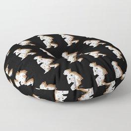 Space Cowboy - Black, white & camel Floor Pillow