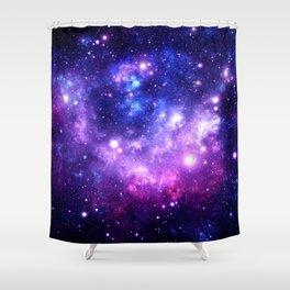 Purple Blue Galaxy Nebula Shower Curtain