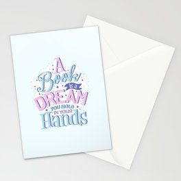 A books is a dream Stationery Cards