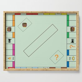 Monopoly Print Currency Game Serving Tray