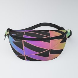 RAINBOW GEOMETRIC STRUCTURE Fanny Pack