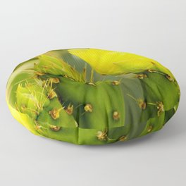 Englemann's Prickly Pear Bud to Bloom Floor Pillow