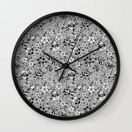 Twilight in the Rose Garden Wall Clock