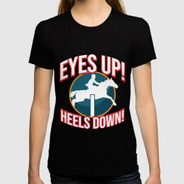 Hold Your Horses graphic | Horsewoman Rider Riding Tee T-shirt