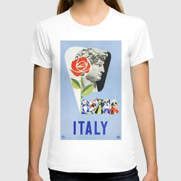 Vintage Italian 1930s Travel Poster- Italy T-shirt