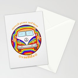 Spread peace and love - Vanlife graphic #1 Stationery Cards