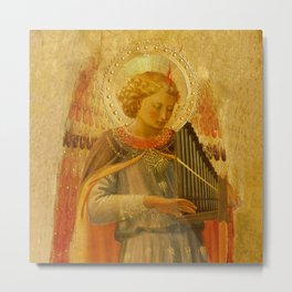 "Music-making angel, Detail from the Linaioli Tabernacle"" 2. Metal Print"