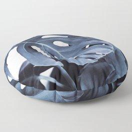 Blue Monsteras Floor Pillow