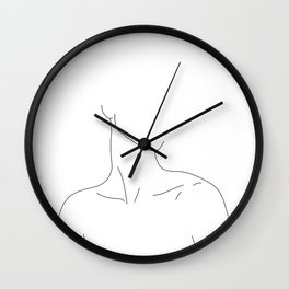Neckline collar bones drawing - Gwen Wall Clock