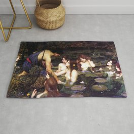 Hylas and the Nymphs,  John William Waterhouse Rug