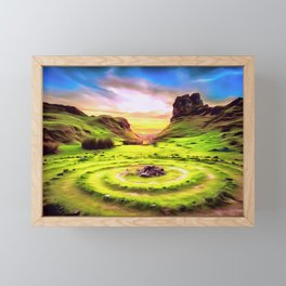 Fairy Glen - Isle of Skye (Painting) Framed Mini Art Print