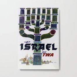Israel Vintage Travel Poster Metal Print