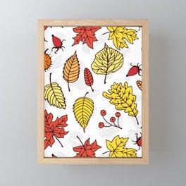 Colorful autumn pattern 3 Framed Mini Art Print