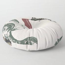 forest girl and gung Floor Pillow