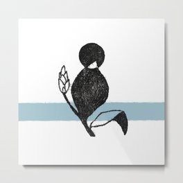 Flower and blue, diatype Metal Print