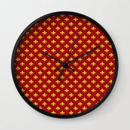 Breton fleur-de-lis. Wall Clock