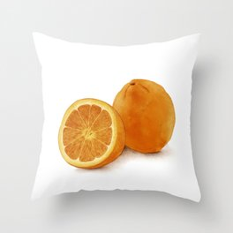 Watercolor Illustration of Citrus Throw Pillow