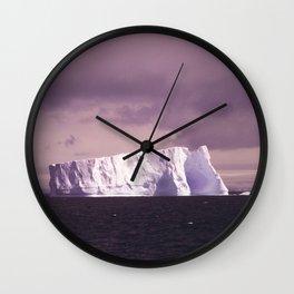 iceberg adrift Wall Clock