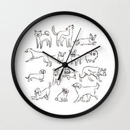 Dogs fun Wall Clock