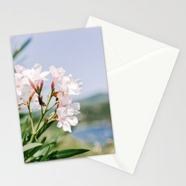 White Pink Oleander on Elba Island II | Italy | Flowers close up | Travel Photography | Art Print Stationery Cards