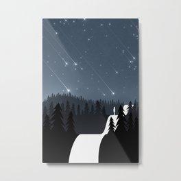Asteroids in the night sky Metal Print