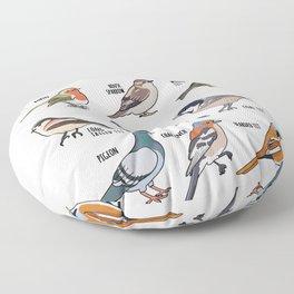 Birdwatching Birder Gift Wildlife Birds Floor Pillow