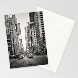 Sunset on 7th (Black and White Version) Stationery Cards