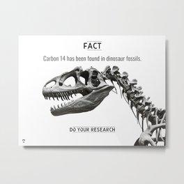 Dinosaur Fact Metal Print