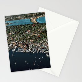 Newport Harbor, Aquidneck Island, Newport Rhode Island Aerial Photograph Stationery Cards
