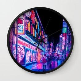 Neon Drip Wall Clock