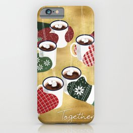 Hot cocoa toast in gold iPhone Case