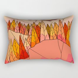 An orange autumn land Rectangular Pillow