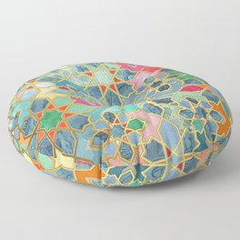 Gilt & Glory - Colorful Moroccan Mosaic Floor Pillow