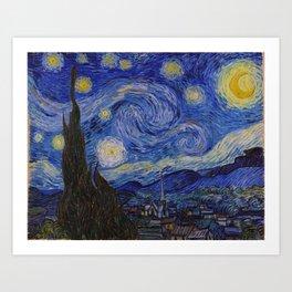 The Starry Night by Vincent van Gogh (1889) Art Print