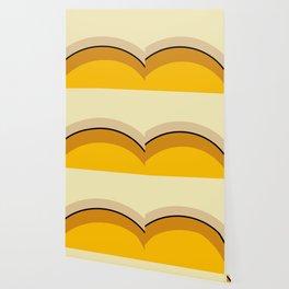 Mid Century Modern 70s Warm Tones Wallpaper