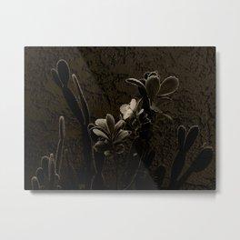 Desert Plants in Sepia Metal Print