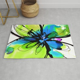 Ecstasy Bloom No.17k by Kathy Morton Stanion Rug
