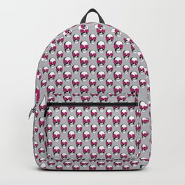 Skulls and Roses Pattern | Skulls and Flowers Pattern | Vintage Skulls | Grey and Pink | Backpack